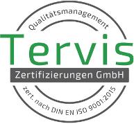 Tervis Zertifikat DIN EN ISO 9001:2015